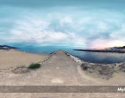 HDRI Environment sea at sunset textures 3D