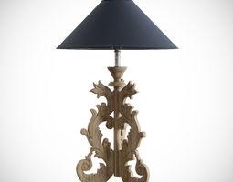 table-lamp dialma brown accessori 3d model