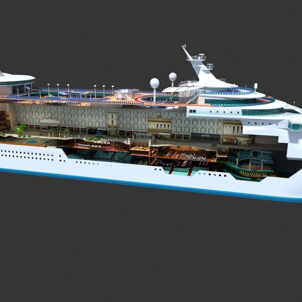 Mariner Of The Seas Cruise Cutaway 3d Model Max Cgtrader Com