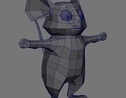 mouse 3D asset VR / AR ready