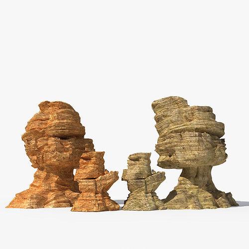 desert rock 3d model max obj fbx 1