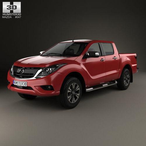 mazda bt-50 double cab 2016 3d model max obj mtl 3ds fbx c4d lwo lw lws 1