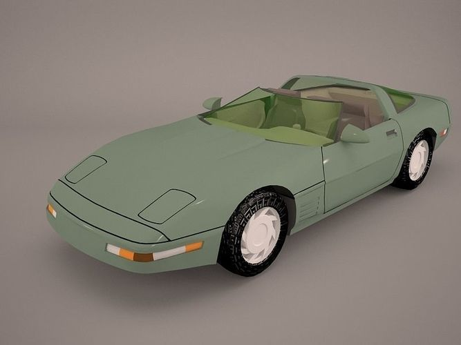 3d model chevrolet corvette c5 z06 cgtrader. Black Bedroom Furniture Sets. Home Design Ideas