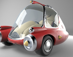 Zip Car from Fallout game 3D model