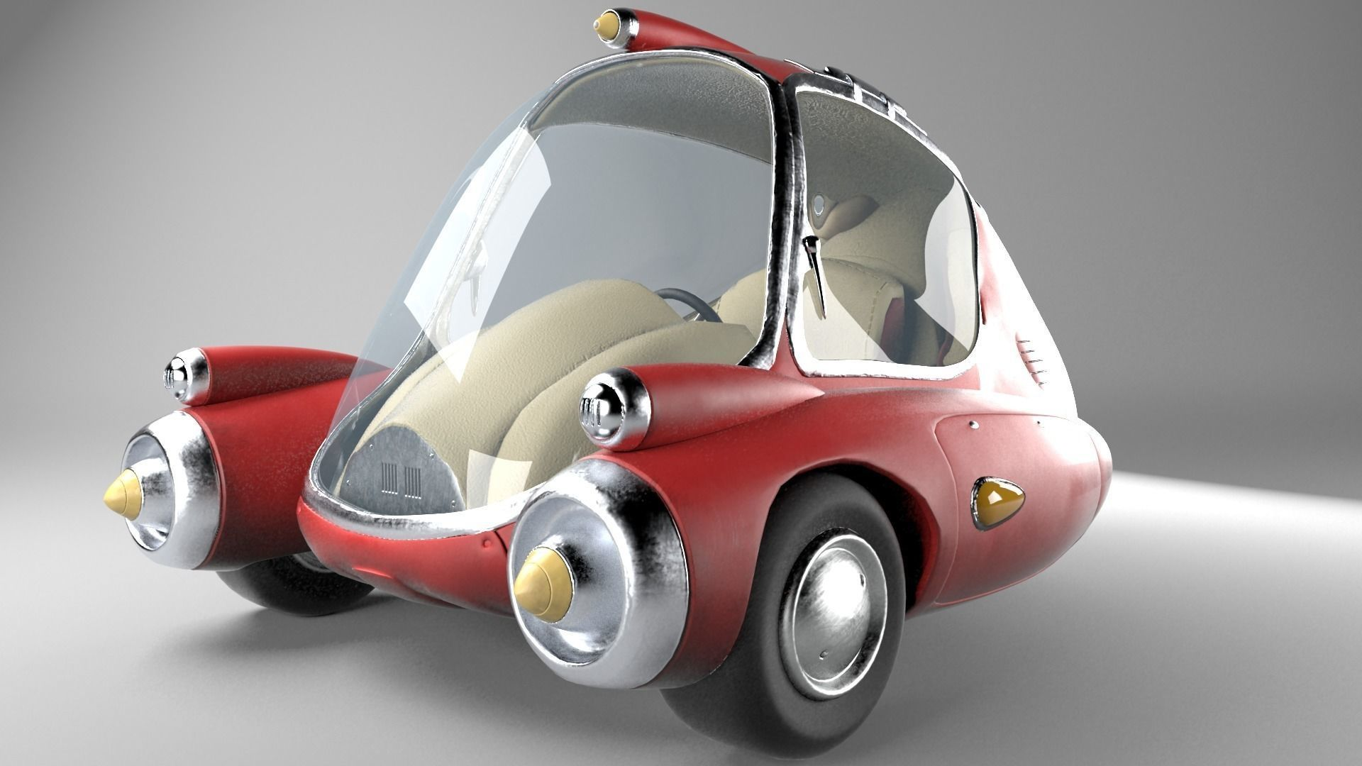 Zip Car From Fallout Game 3d Model Cgtrader