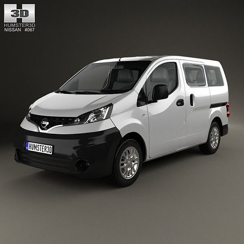 3d model nissan nv200 combi 2011 cgtrader. Black Bedroom Furniture Sets. Home Design Ideas