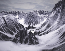 Mountains 3D displacement