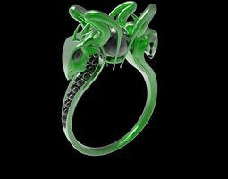 snakes ring 3D printable model