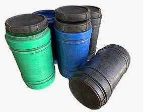3D asset industrial plastic barrel