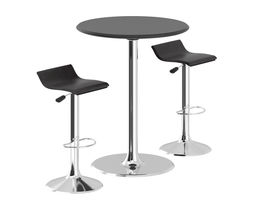 3d model animated bar table with stools