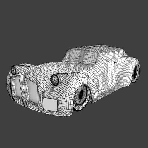 Modern Classic Car Model Cgtrader
