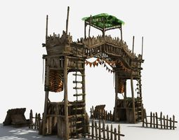 3D model Gate Guard Tower