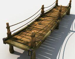 3D Old Wooden Bridge 04