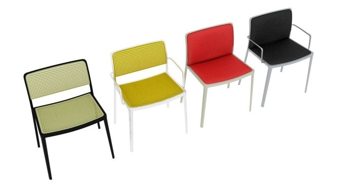 D Model Kartell Audrey Chairs Collection CGTrader - Kartell furniture