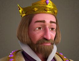 3D model Cartoon King