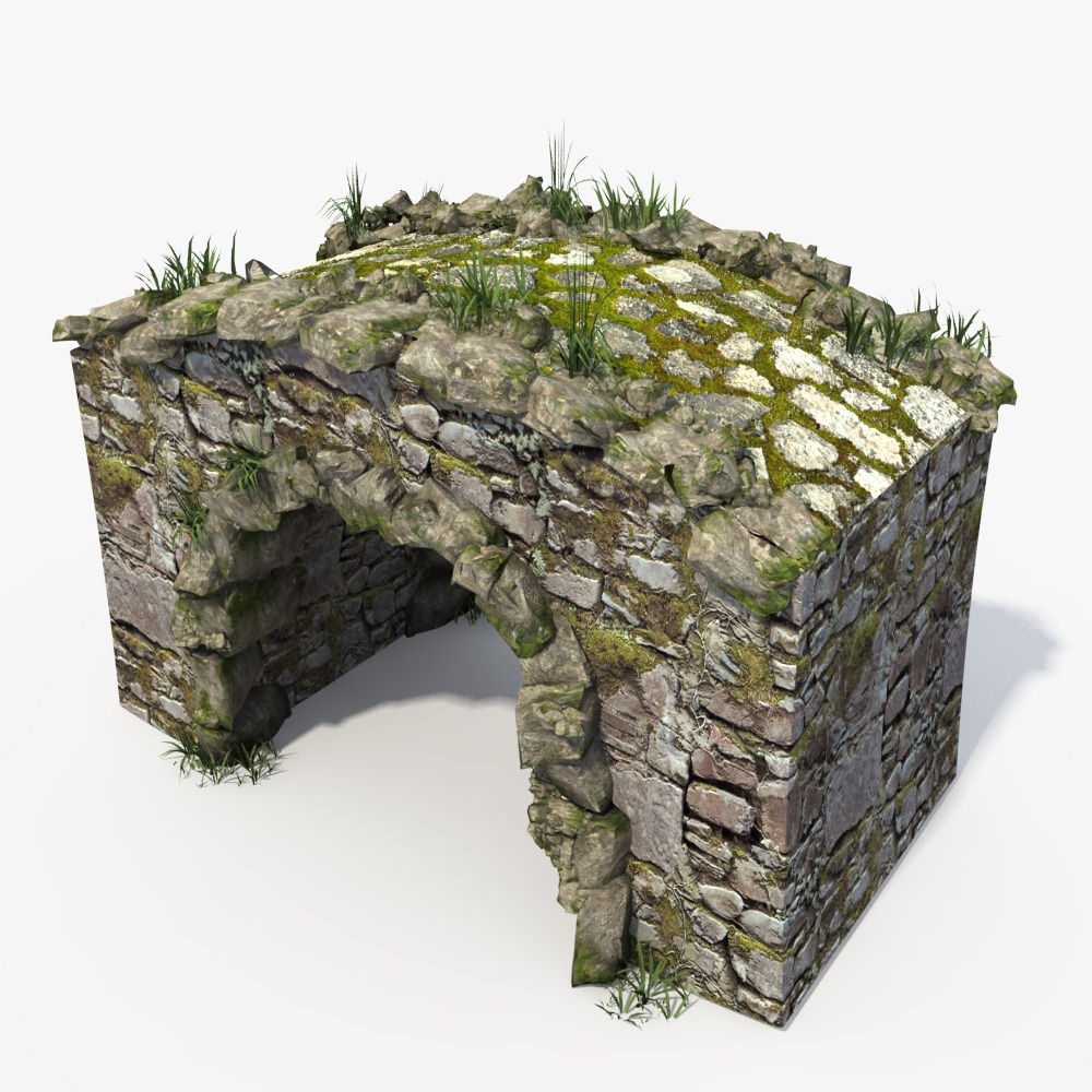 3D Stone Bridge | CGTrader on Granite Models  id=62807