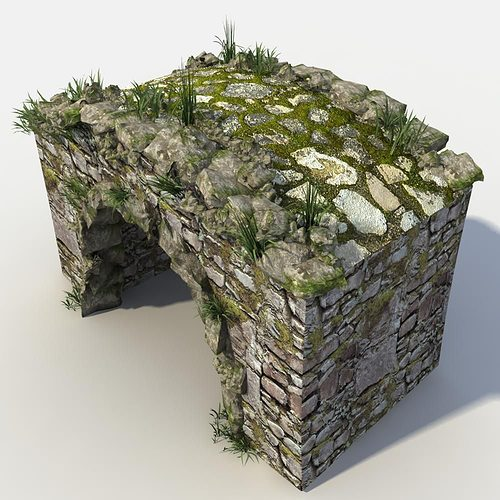 Stone Bridge 3D Model MAX OBJ FBX | CGTrader.com on Granite Models  id=45007