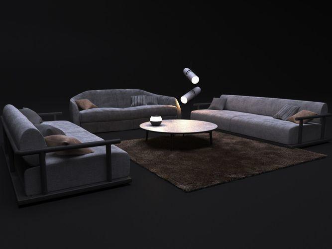 sofa alfred and sofa icaro 3d model max obj mtl 1