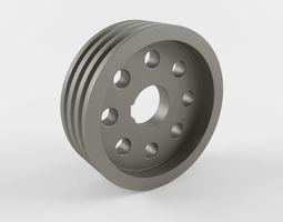3D model Pulley pump