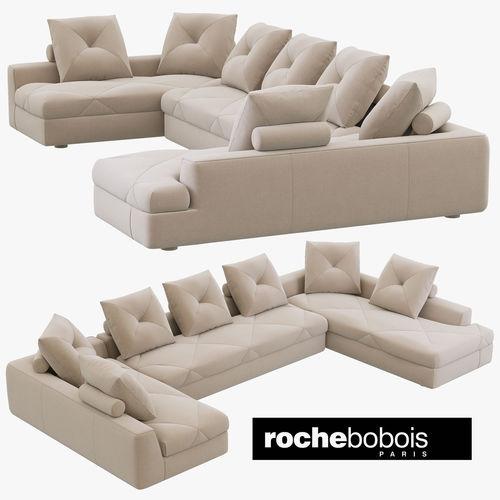 3d Roche Bobois Preface Modular Sofa Cgtrader