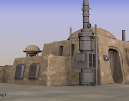 3D Tatooine building 1
