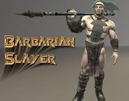 3d model animated barbarian slayer