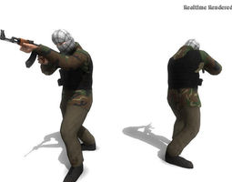 3d model animated game-ready civil fighter
