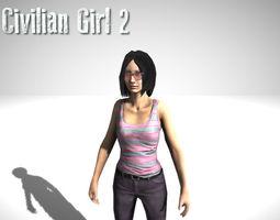 Civilian Girl 3D asset