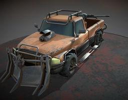 desert bull 3d asset game-ready