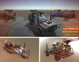 3d asset VR / AR ready desert destroyer