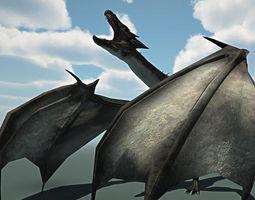 VR / AR ready dragon animated 3d asset
