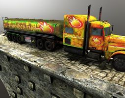 3d asset fuel truck VR / AR ready