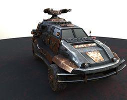 3d model futuristic car