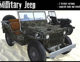 military jeep low-poly 3d model