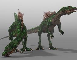 realtime raptor animated 3d model