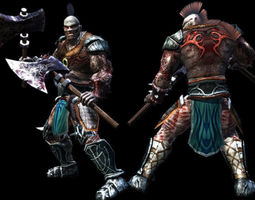 3D asset Underworld Warrior 2