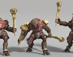 3D asset animated VR / AR ready Troll