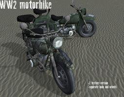 3D model WW2 Motorbike