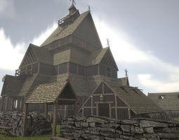 Viking Church 3D asset