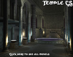 3D asset Temple CS