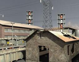 industrial buildings 3d model realtime