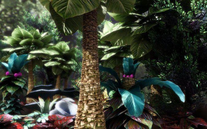 fantasy and alien vegetation 1 3d model obj fbx lwo lw lws dae X mtl 1