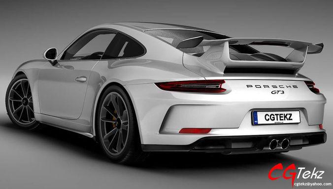 3D model Porsche 911 GT3 2018 | CGTrader