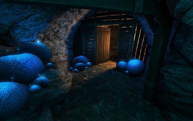 cave creator 3d model low-poly obj mtl fbx c4d lwo lw lws dae X 1