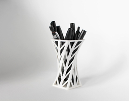 008f - Pen Holder - Wireframe - Arrowhead 3D print model 1