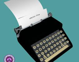 TypewriterOld FBX OBJ 3D