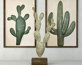 3D Metal Cactus Sculptures