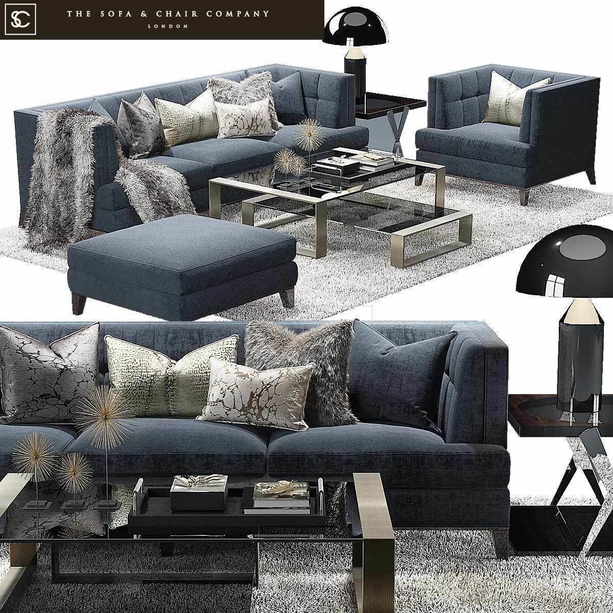 Strange The Sofa And Chair Company Preston Sofa Hirst Table 3D Model Creativecarmelina Interior Chair Design Creativecarmelinacom