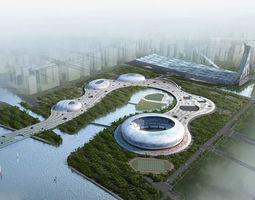 Posh Stadium Exterior 3D