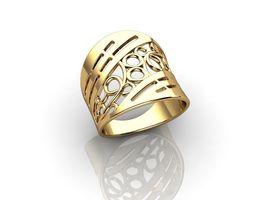 white 3D printable model Gold Rings